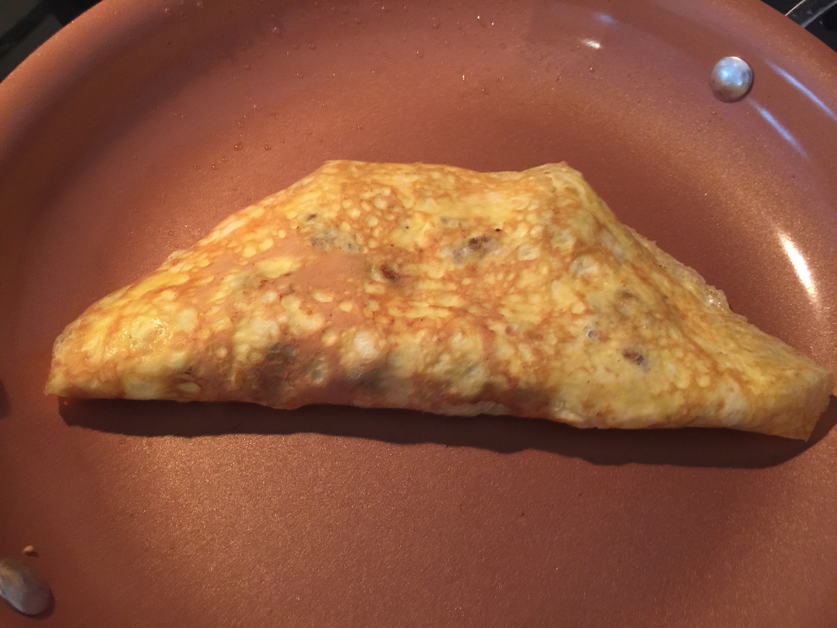 Steak and Cheese Omelet perfectly cooked